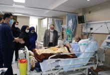 تصویر از عیادت از بیماران توسط آقای دکتر طیبی مدیرعامل بیمارستان مهر و مدیریت خدمات پرستاری